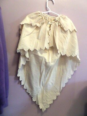 Antique Victorian/Edwardian Child's Wool Cape Embroidered Flowers