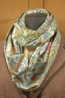 William Morris Compton Infinity Loop Scarf Blue
