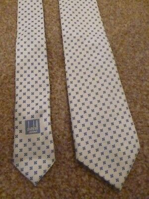 Bnwot New Dunhill London Italy White Blue Winter Fall Silk Suit Shirt Dress Tie