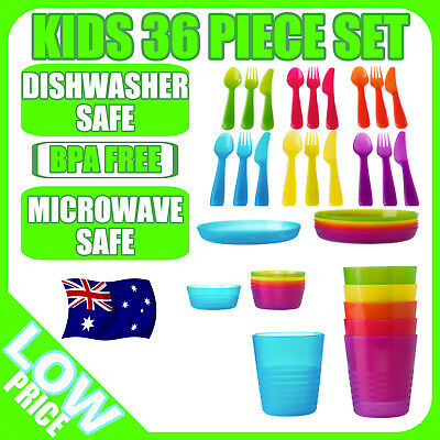 Ikea Kalas 30 Piece Assorted Colour Set (6 Plate,6 Mugs,18 Cutlery) Kids set
