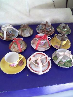 Vintage Shofu Tea Cups and Saucers from Occupied China - NEW in original boxes