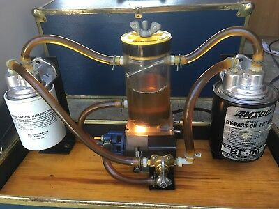 Vintage Rare Gas And Oil Display Filter System