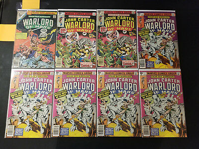 John Carter Warlord of Mars Collection Run Lot of 19 , # 1 - 28 (1977, Marvel)