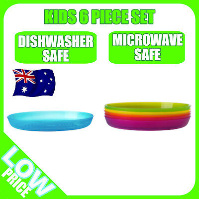 Ikea Kalas Plate | 6 Pieces Children Tableware Party Dining Plastic Kids Plate