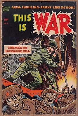 """THIS IS WAR #8 """"Ross Andru cover"""" (Standard-1953)  VG/VG+ Solid!   -combine-"""