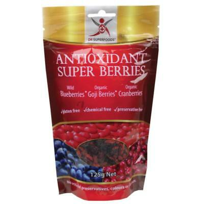 DR SUPERFOODS Antioxidant Super Berries  Blueberries, Cranberries & Goji 125g