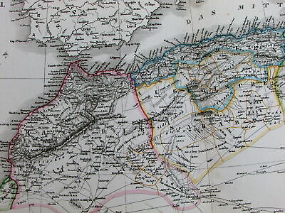 North Africa Morocco Azores Canary Islands Morocco Tunis 1840 Kiepert huge map