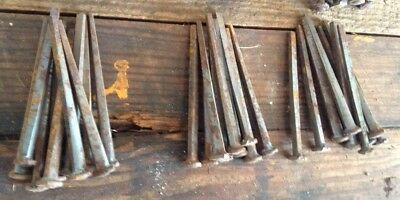 """Lot Of 50 Vintage SQUARE CUT NAILS  - Barn Find - 4"""" Long"""