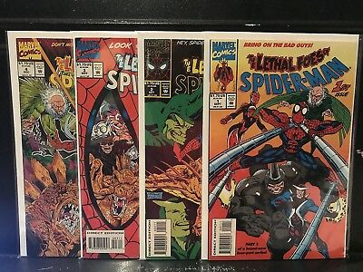 Lot of 4 Lethal Foes of Spider-Man #1 2 3 4 (1993 Marvel) Combined Shipping Deal