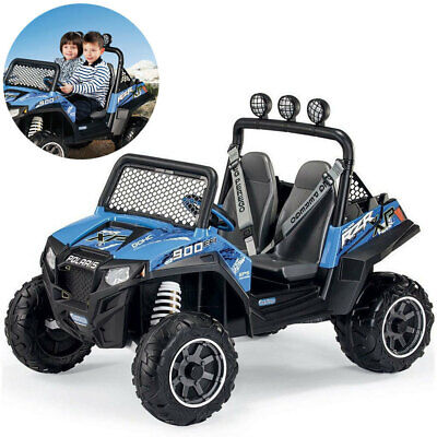 Peg Perego Polaris Ranger RZR 900 Offroad Kids Car Rechargeable 12V/200W Blue