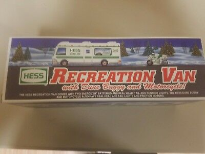 Collectible Hess Truck - Recreational van with dune buggy and motorcycle (1998)