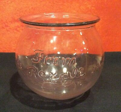 Antique/Vintage Rexall Drug Store Advertising Jar/Bowl Apothecary Candy Bowl