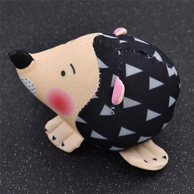 Black Hedgehog Shape Pin Needle Cushion Cute Handmade Fabric Craft Supplies