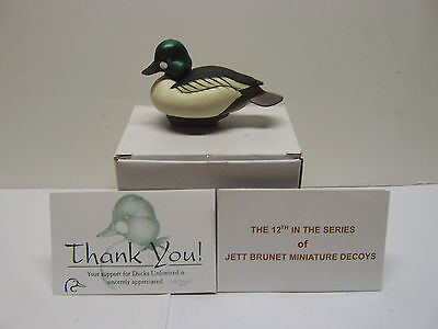 Jett Brunet Ducks Unlimited Miniature Decoy Goldeneye LIMITED EDITION NIB DU .