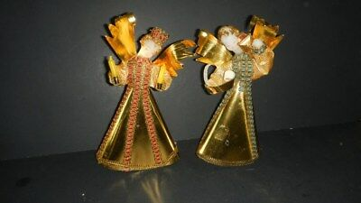 Vintage Koestel  Christmas Angels Set of 2 Made in Western Germany