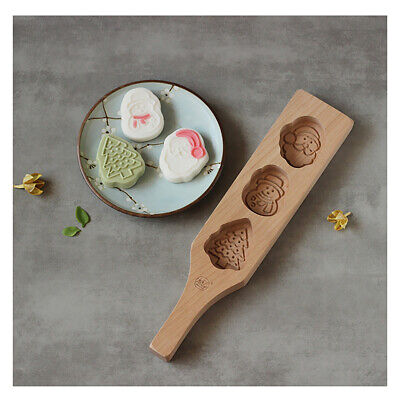 Wooden Cake Pastry Mould Festival Mooncake Mold Baking Tool DIY Christmas