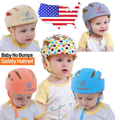 Baby Kid Safety Adjustable Toddler Helmet Headguard Cap Protective Harnesses Hat