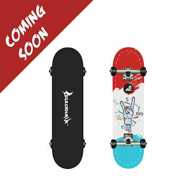 "BLACKHAWK 31x8"" 9Ply Premium Maple Deck ABEC-7 Trick Skateboard Complete Set"