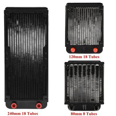 80/120/240mm Aluminum Computer Radiator Water Cooling Cooler For CPU Heat Sink