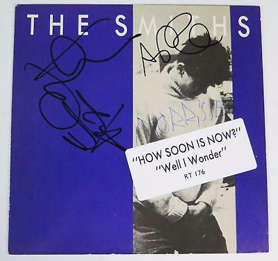 """Morrissey THE SMITHS Signed Autograph """"How Soon Is Now"""" 45 rpm Record by All 4"""