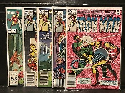 Lot of 5 Iron Man #171 172 173 174 175 (1968 Marvel) Combined Shipping Deal!