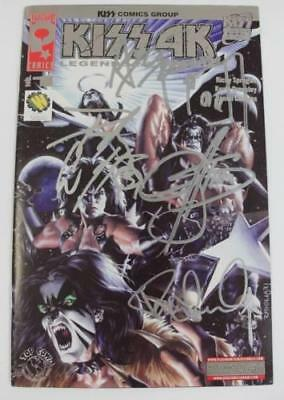 KISS Signed Autograph KISS 4K Comic #1 by All 4 Paul Stanley, Gene, Ace, & Peter