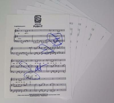 "SALT N PEPA Signed Autograph ""Push It"" Sheet Music  RAP"