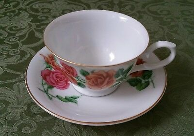 Avon June Rose Blossoms Of The Month Cup And Saucer 1991