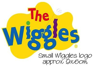 Iron on Transfer SMALL WIGGLES WIGGLE LOGO EMMA LACHY ANTHONY SIMON 9X6CM