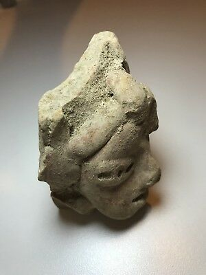 Teotihuacan Head Stamp Pre-Columbian Antiquity Ancient Artifact Olmec Mayan