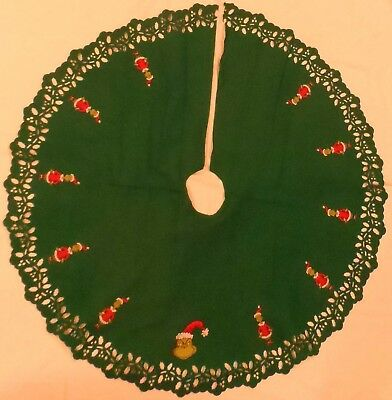 The Grinch Christmas Tree Skirt Dr. Seuss How The Grinch Stole Christmas