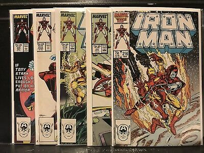 Lot of 5 Iron Man #216 217 218 219 220 (1968 Marvel) Combined Shipping Deal!