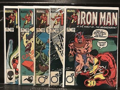 Lot of 5 Iron Man #181 182 183 184 185 (1968 Marvel) Combined Shipping Deal!