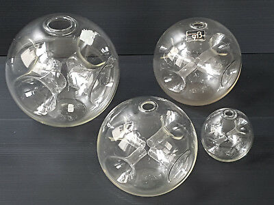 Suite Of 3 Vases Ball Glass Space Age 1970 Vintage 70S 70's Pop Signs