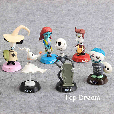 6X The Nightmare Before Christmas Jack Skellington Action Figure Toy Cake Topper
