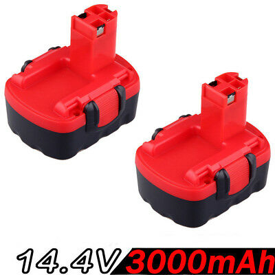 2x 14.4V 3.0AH Battery For Bosch BAT038 BAT040 BAT140 2607335276, 2607335533