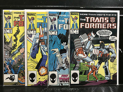 Lot of 4 Transformers #7 8 9 13 (1984 Marvel) Combined Shipping Deal!