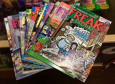 Fabulous Furry Freak Brothers - Issues 1-13 NM Lot New Rip Off Press L@@K