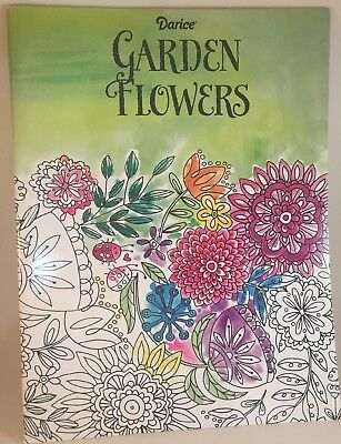 Darice Garden Flower Theme Coloring Book For Adults Fun Relaxing