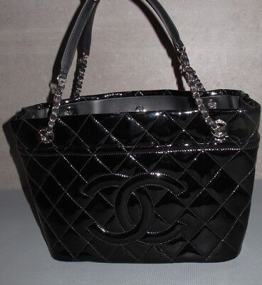 b0b97f89c3db4d CHANEL large black shopping purse/tote 30cm NEW w/tags