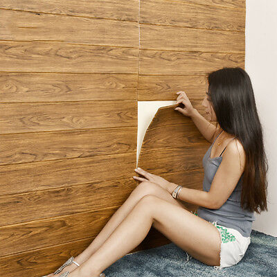 70*70cm Self Adhesive Wood Grain Wallpaper Peel and Stick Vinyl Tile Stickers