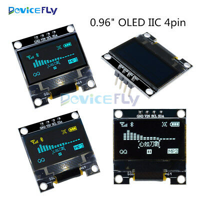 "0.96"" Yellow Blue White 128X64 OLED I2C IIC Serial LCD LED SSD Display SSD1306"
