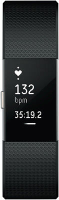 NEW Fitbit 3352570 Charge 2 Black Silver Small