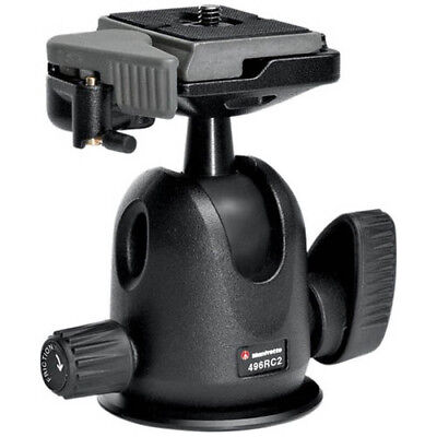 Manfrotto 496RC2 Compact Ball Tripod Head with GEN MANFROTTO WARR