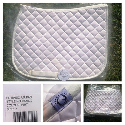 New practical choice white pony club a/p saddle blanket