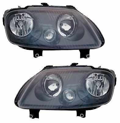 Black H7 H1 Headlight With Actuator For VW Touran 03-06 Caddy 04-10