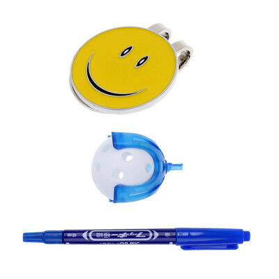 Golf Ball Liner with Pen Ball and Magnetic Hat Clip Golf Ball Marker Combo