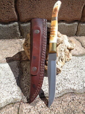 Couteau Frost Cutlery Chipaway Canyon Bowie Acier 3Cr13 Manche Os Etui FCW354