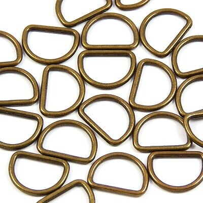 SALE! 50x 100xpack - 16mm 5/8 inch Metal Welded D-ring in Chrome/Brass