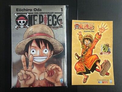 ONE PIECE 1 SILVER 20th Anniversary LIMITED EDITION + CARTOLINA GOLD